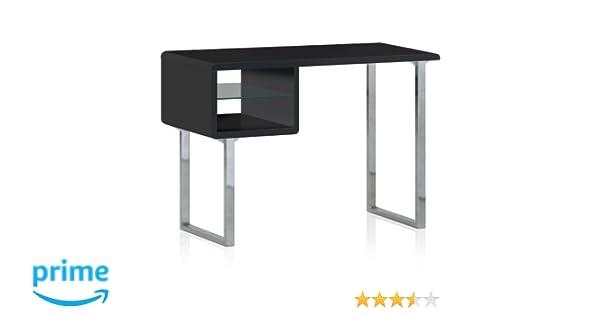 Menzzo ks contemporain model bureau bois inox laqué noir x
