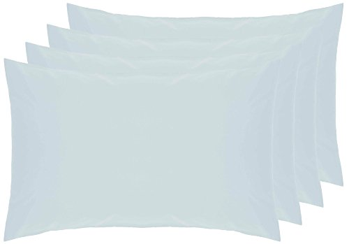 Belledorm 4 PACK Blue Pillowcases, 200 Thread Count Percale (Housewife, Duck Egg)