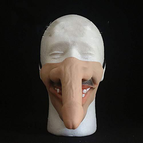 Lustige Kopfmaske Penis Dick Kopf Latex Maske Prank Party Kostüm Hen Stag Halloween Für Witz - Dick Kopf Kostüm