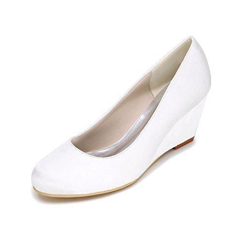 L@YC Pendenza Degli alti Talloni Delle Donne Con La Personalizzazione Dei Pattini Di Cerimonia Nuziale 9140-01 Partito & Scarpe Più Colori White