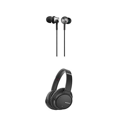Sony MDR-EX450H geschlossene In-Ear-Kopfhörer grau + WH-CH700N kabelloser Noise Cancelling Kopfhörer (Bluetooth, bis zu 35 Stunden Akku, Schnelladefunktion, NFC) schwarz thumbnail