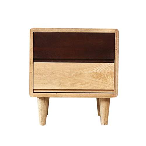 YR FURNITURE Nachttische Aus Holz Schubladen Schlafzimmer Schrank Nachttisch Rustikales Design Nachttisch Möbel Modern -