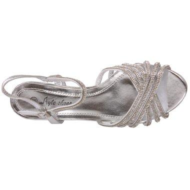 Unze Womens 'Charm' Diamante Ornata nuziale sandali UK Size 3-8 Argento
