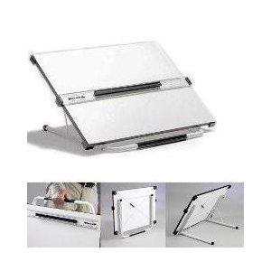 Blundell Harling BH056351 - Mesa de dibujo portátil (ángulo ajustable, A2), blanco