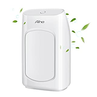 Luftentfeuchter Aiho Mini Raumentfeuchter Kompakter und Tragbarer Elektrisch Ultra Ruhig Intelligente Entfeuchter gegen Feuchtigkeit, in der Küche, Wohnwagen, Büro und Garage