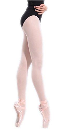 18MM Professionell 80 DEN Mädchen Kinder Ballett Strumpfhose Feinstrumpfhose Tanz Turnen Strumpfhosen (Rosa, Jahre 8 - 10) (Mädchen Tanz Strumpfhose)