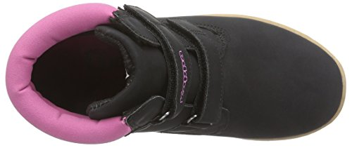 Kappa Kombo Ii K Footwear Kids, Baskets hautes mixte enfant Noir - Schwarz (1122 black/pink)
