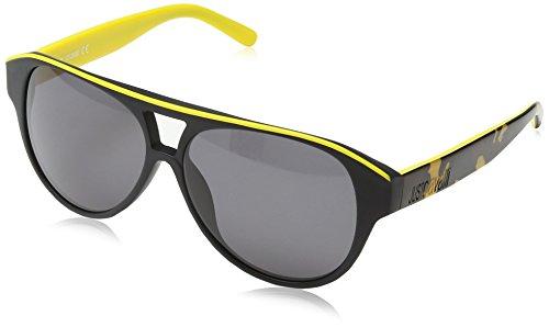 varios colores 421fd 4d8d3 Just Cavalli - Gafas de sol Wayfarer JC413S, Black Yellow & Grey Frame /  Gradient Dark Grey