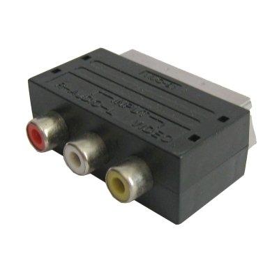 Adaptador y Cables, A/V a Adaptador euroconector Macho de 20 Pines