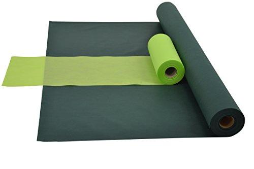 1 Kombi-set (Sensalux Kombi-Set 1 Tischdeckenrolle 1m x 25m + Tischläufer 30cm (Farbe nach Wahl) Rolle grün Tischläufer apfelgrün)