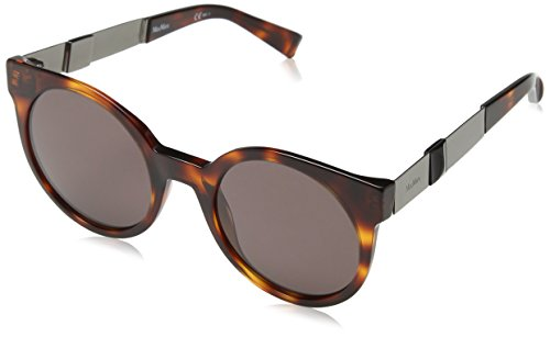 Max mara mm stone ii l3 oqb 52 occhiali da sole, grigio (havana dkruth/dark mauve), donna