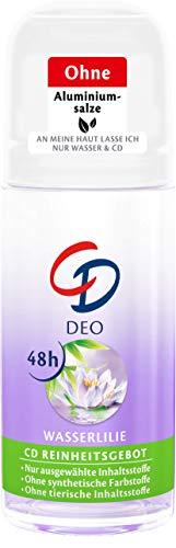 CD Deo Roll-On Wasserlilie - Deoroller ohne Aluminium für 48 Stunden Schutz im Vorratspack - 3er Pack (3 x 50 ml) - Aluminium 48