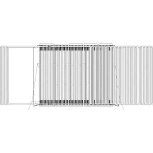 Tarifold Sichttafelständer A3 grau Metall mit 50 Sichttafeln rot