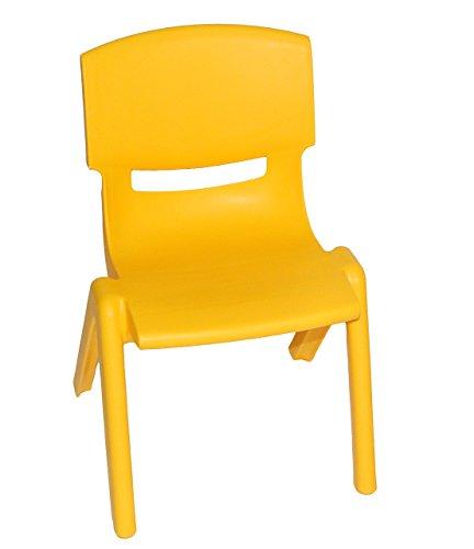 Kinderstuhl - GELB - bis 100 kg belastbar / stapelbar / kippsicher - für INNEN & AUßEN - Plastik / Kunststoff - Kindermöbel für Mädchen & Jungen - Stuhl Stühle / Kinderzimmer / Plastikstuhl - Kinder - Gartenmöbel - Tischgruppe