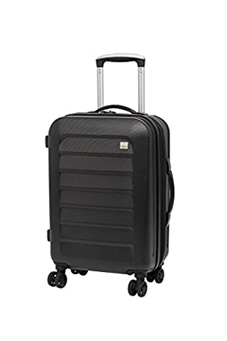Members Chevron 55cm Cabin Easyjet Compliant Hard Shell Expandable Four Wheel Spinner Suitcase