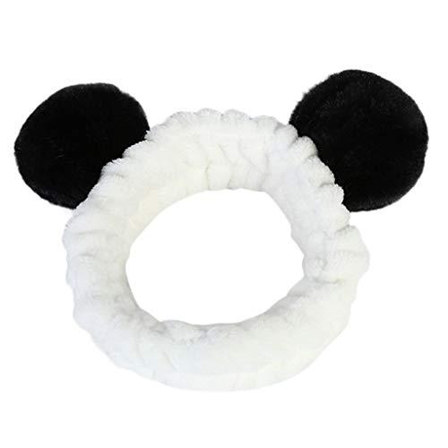 Kostüm Faul Frauen - Panda Ohr Make Up Stirnband Damen Gesicht Waschen Spa Dusche Maske Haarband Bandana Für Frauen Make-Up Kosmetisches Turban Haar Tragen Gesicht Waschen Haarband Stirnbänder