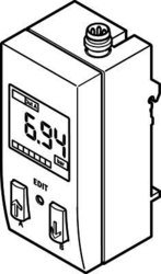 Festo 530900Modell sde1-d10-g2-w18-l-pu-m8Druck Sensor