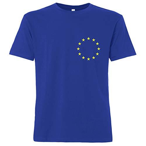 OutlawTex - Europa - Herren T-Shirt Blau S -