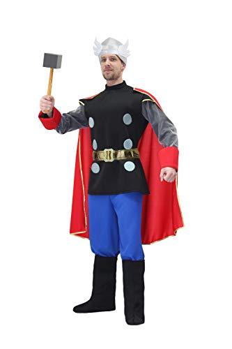 Pegasus Vestito Costume Maschera di Carnevale Adulti - Dio Thor - Taglia XL - 52/54 Uomo