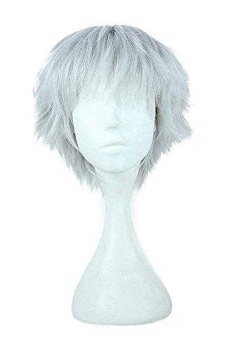 Gorra pelo + plata blanca hombres corto traje recto