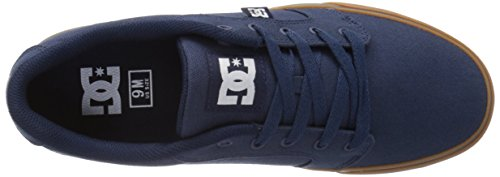 DC Shoes Anvil Tx, Chaussures basses hommes Marine / Marron (Navy / Gum)