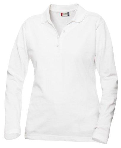 Clique - Polo -  - Uni - Col boutonné - Manches longues Femme Blanc