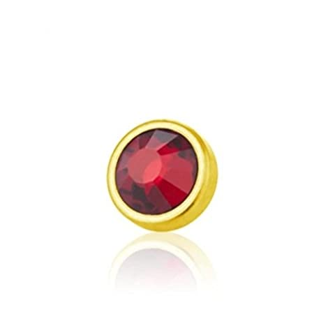 4,5 mm - LR - Light Rose/ Hell Rosa - Gold Steel - Dermal Anchor - Kristall - 1,2 mm (Piercing Aufsatz Surface Implantat Microdermal Hautanker)