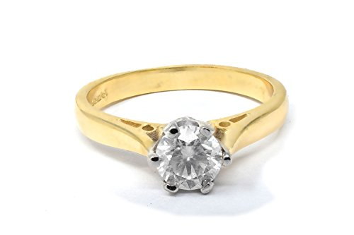 Diamantring Gelbgold mit 1/2 Karat Diamant - mit Zertifikat-49 (15.6) (Sein Hers Diamant-ring)