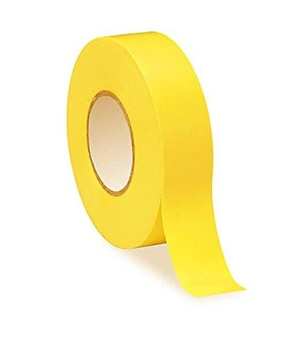 Nastro isolante elettrico in PVC giallo–20m x 19mm–alta qualità–Strong roll by Gocableties