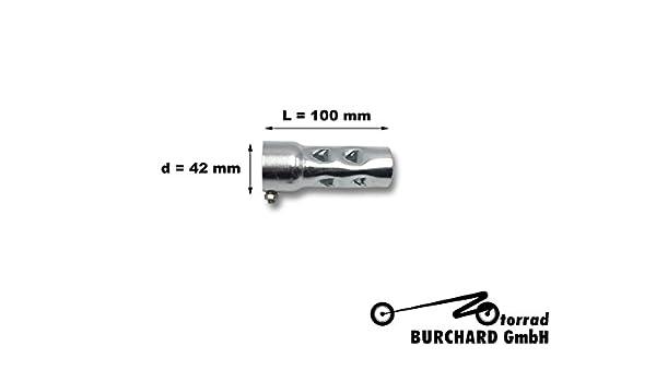 Universale motocicletta scarico silenziatore uso deflettore DB Killer D = 42/mm L = 100/mm