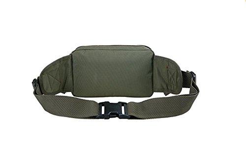 Genda 2Archer Nylon de Para la Moda Bolsa Fanny Hip-hop Bumbag Bolso de Cuerpo Cruzado (34cm *10cm*22cm) (Verde)