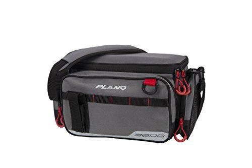 Plano PLAB36111 Weekend Serie 3600 Angelkoffer, Unisex-Erwachsene, 3600 Size Tackle Case, w/ 2-3600's, Grey, grau, Einheitsgröße -