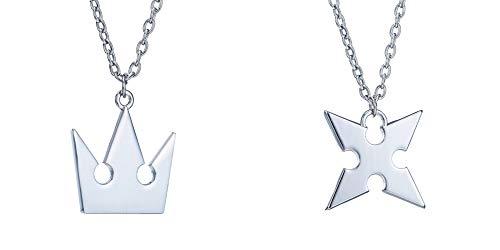 Kingdom Hearts Sora Crown & Roxas Cross Halsketten