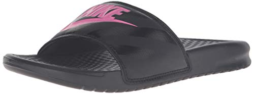 Nike wmns benassi jdi, scarpe da ginnastica donna, nero (black/vivid pink/black 061), 39 eu