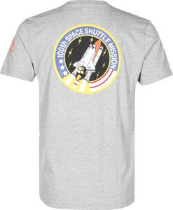 Alpha Industries Herren Oberteile/T-Shirt Space Shuttle Grey Heather