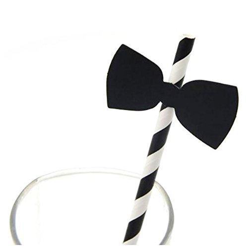 10x chytaii Stroh aus Papier Streifen für Dekoration Party Kreative (Schleife) noeud papillon 10 X Stroh