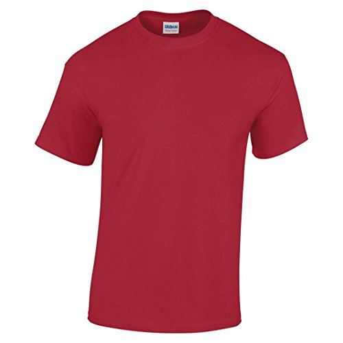GILDAN Mädchen T-Shirt Rot Cardinal Red (Kinder-cardinal Red T-shirt)