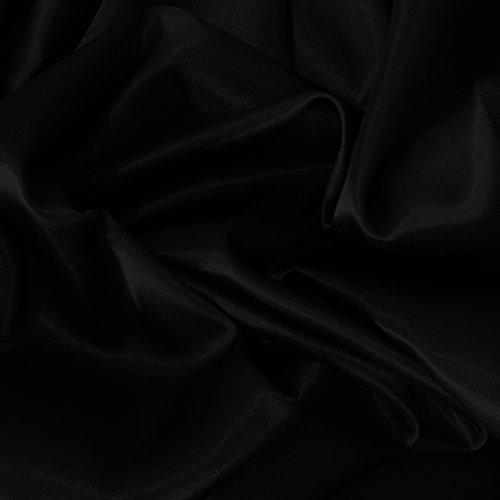 Satin-Stoff, seidig, fließendes Gewebe, luxuriöse Ausführung, für Kleider, Tanz- & Handwerk, 150 cm breit, Meterware, - Weiße Fließenden Tanz Kostüm