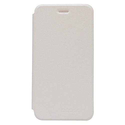 Guran® PU Leder Tasche Etui für UMI Fair Smartphone (Keine Innenschale) Flip Cover Stand Hülle Case-weiß