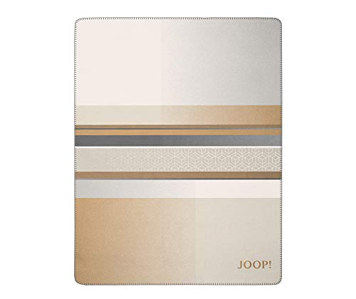 Joop! Wohndecke Clash | Camel-Pergament - 150 x 200