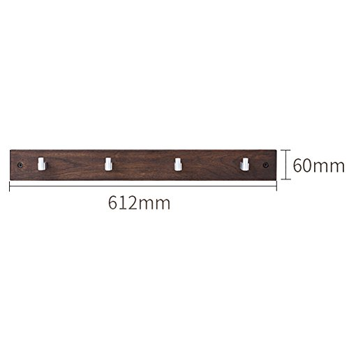 Mdmmbb semplice appendiabiti da parete in legno massello appendiabiti da parete in rovere appendiabiti da parete semplice appendiabiti beni per la casa (colore : a, dimensioni : 4 hooks)