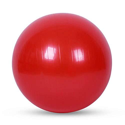 YKXY Yoga-Ball RüCkentraining Und Coordination Anti-Burst Gymnastikball Pezzi Ball Aufblasbare Gymnastik Ball Stabilit?Ts St?Rkung Der Bauchmuskulatur -Rot 85cm
