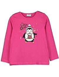 LC WAIKIKI - Camiseta de Manga Larga para niña, de algodón, con Cuello Redondo
