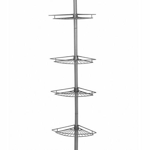 Tension Pole Caddy (Zenith Produkte 4-shelf Badewanne und Dusche Tension Pole Caddy Satin / Nickelfarben)