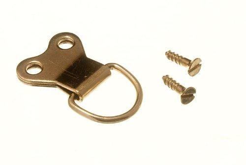 cornice appesa a doppio anello in ottone d ter placcato con viti (confezione da 10) - Cornice In Ottone