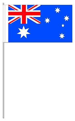Preisvergleich Produktbild 10 Fähnchen * AUSTRALIEN * als Deko für Mottoparty oder Länder-Party // Flaggen Fahnen Papierfahnen flag australian