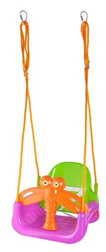 ISO TRADE Altalena Colorata 3 in 1 Seggiolino Bambini in Plastica Sedile Regolabile per Altalena Giocattolo da Giardino per Bambini 6340
