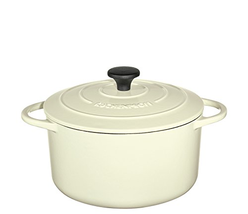 Küchenprofi Bratentopf rund, 24cm Creme Provence Gusseisen Topf, 24 cm