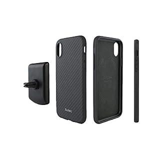 AER Karbon Case Compatible with iPhone XR with AFIX+ Vent Mount - Black