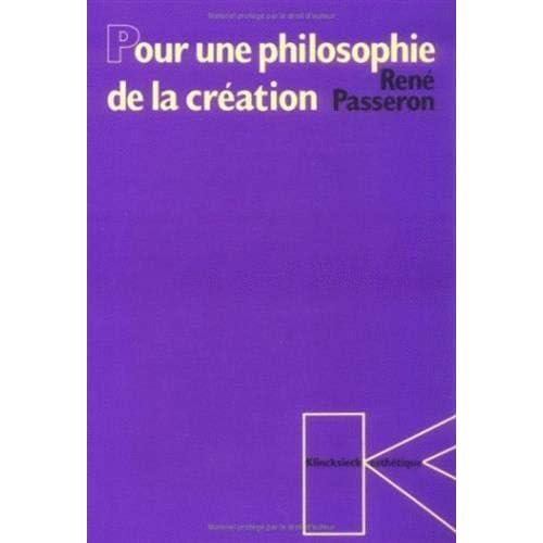 Pour une philosophie de la creation